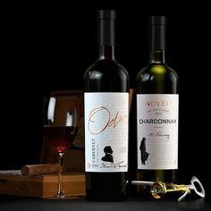 Literary series wine. Label design.