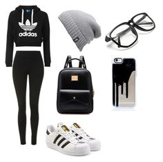 """casual"" by cassidymalllen on Polyvore featuring adidas Originals, Topshop and The North Face"