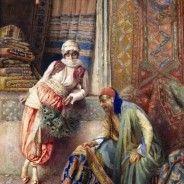 Flirting with the carpet seller…Federico Ballesio Marchand de tapis Portrait Photos, Art Magique, Jean Leon, Empire Ottoman, Arabian Art, Art Brut, Turkish Art, Italian Painters, Classical Art