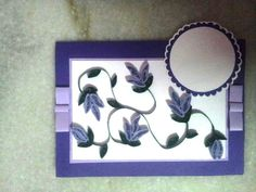 purple quilled card..