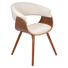 Vintage Mod Dining Chair Wood/Beige - LumiSource. Image 1 of 5.