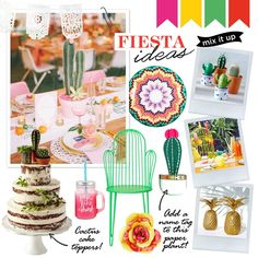 Wedding theme: Fiesta Create your own fiesta with traditional bunting, punchy zigzags and potted cactus plants.  Compiled by lauraburkitt.com