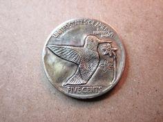 1928 Hobo Buffalo Nickel Hand Engraved Folk Art Coin Love Token Hummingbird | eBay