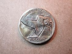 1928 Hobo Buffalo Nickel Hand Engraved Folk Art Coin Love Token Hummingbird   eBay