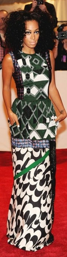 ♥African Fashion ■ Solange Knowles