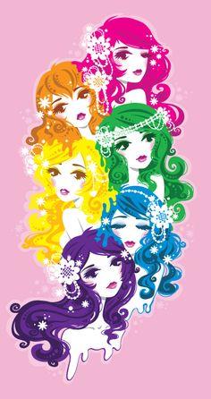 Miss Kika, Rainbow, girls