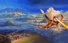 Pern Museum Art Gallery - Official Art - Les Edwards | Dragon's Fire