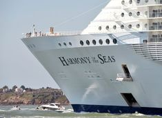 Harmony of the Seas: Water slides, casinos, robot bartenders – the world's largest cruise ship Harmony Of The Seas, Water Slides, Bartender, Worlds Largest, Tower, Journey, Boat, London, Building