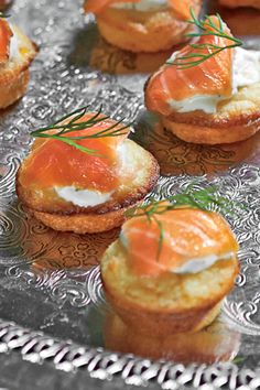 Make these in the morning, and top with salmon and crème fraîche just before your guests arrive. Tight on time? Use store-bought blini instead.Recipe: Mini Corn Cakes with Smoked Salmon and Dill Crème Fraîche