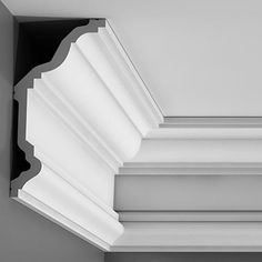 """C332 Crown Molding, Primed White. Face: 10-1/8"""" Length: 78-3/4"""" ____________________________ Request Your FREE Catalog: http://form.outwater.com/oracusa.php"""