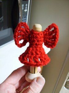 Stylish Clothespin Angel: free crochet