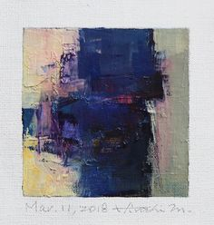"Mar. 11, 2018 9 cm x 9 cm (app. 4"" x 4"") oil on canvas © 2018 Hiroshi Matsumoto www.hiroshimatsumoto.com"