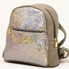 Rucsac dama Shiny-gri Backpacks, Fashion, Moda, Fashion Styles, Fasion, Backpack