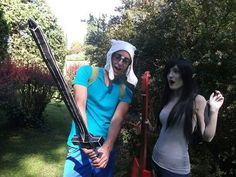 Finn and Marcy ❤ #Finn #marceline #adventuretime #cosplay#cosplayers
