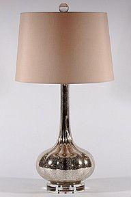 Milano Mercury Glass Lamp by Regina Andrew