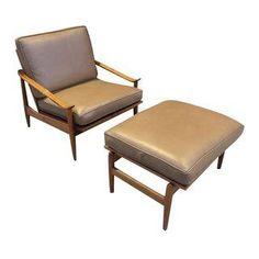 Milo Baughman for Thayer Brown Chair & Ottoman