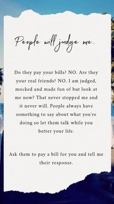People will judge! But do they pay your bills??