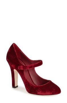 Free shipping and returns on Dolce&Gabbana Mary Jane Pump (Women) at Nordstrom.com. A lush velvet finish and mary-jane strap intensify the old-world glamour of an almond-toe pump fashioned with impeccable Italian craftsmanship.