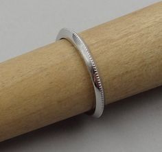 Thin Platinum 2 mm Wide Knife Edge Wedding Band   Etsy Pink And Gold, White Gold, Rose Gold, Wedding Band Engraving, Pink Stone, Wedding Ring Bands, Platinum Ring, 9 Mm, Gold Ring