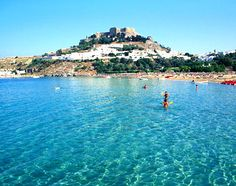 Rhodes, Greece...I believe this is St. John's Bay...The only place I actually swam in Greece.