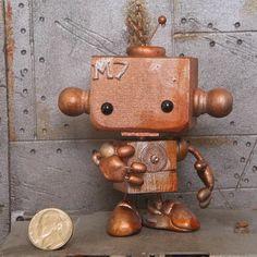 Cute little robot. Domestic Robots, Robot Revolution, Robot Parts, Metal Robot, Robot Illustration, Robots Characters, Robot Technology, Clay Baby, Cold Porcelain