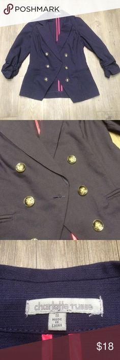 ❤️ SALE ❤️ Never Worn Navy Blazer Never worn, Charlotte Russe. Size small navy blazer. Charlotte Russe Jackets & Coats Blazers