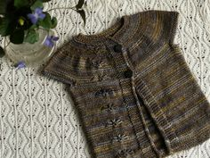 Chickory top pattern by Sarah Pope. malabrigo Sock in Turner colorway. The name of the color is from the painter Joseph William Turner