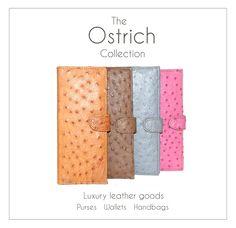 genuine ostrich leather purses