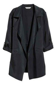Vestido con cuello de pico - Azul oscuro/Floral - MUJER | H&M ES