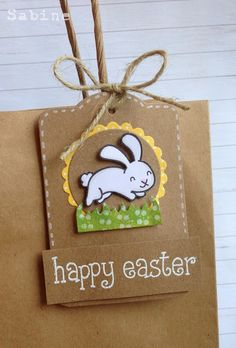 Lawn Fawn - Happy Easter _ Sabine at Dreamed Up Designs: Lawnscaping March Blog Hop
