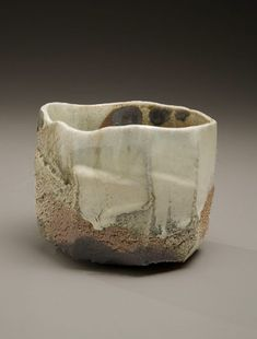 """Nishihata Tadashi Displayed at the """" Fired By Tradition """" exhibition (2011) at the Joan B Mirviss Gallery Tanba-ware-glazed-tea-bowl"""