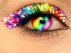 rainbow glitter ....
