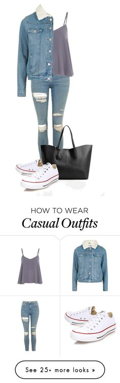 """""""Casual warm outing"""" by ellirose-jackson on Polyvore featuring Topshop, MANGO and Converse"""