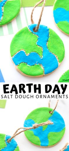 Introduce kids to Earth Day with this fun and easy salt dough craft. Make a salt dough Earth model with our simple salt dough recipe. Felt Christmas Decorations, Diy Christmas Ornaments, Earth Day Activities, Craft Activities, Baby Crafts, Toddler Crafts, Fun Arts And Crafts, Crafts For Kids, Salt Dough Jewelry