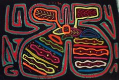 Kuna Indian GOLF COURSE GREEN Mola Art-Panama 15102911L