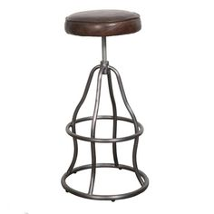 Height adjustable Top grain leather seat in vintage brown Stainless Steel Frame Price reflects model in showroom Special Orders arrive in weeks. 30 Bar Stools, Swivel Bar Stools, Counter Stools, Bowie, Iphone Plus, Bench Stool, Restaurant Chairs, Distressed Leather, Quality Furniture