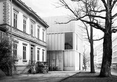 Bündner Kunstmuseum in Chur by Durisch + Nolli Architetti Chinese Architecture, Architecture Drawings, Facade Architecture, Contemporary Architecture, Stair Detail, Roof Detail, Steel Structure Buildings, Study Room Design, Column Design
