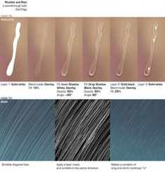 Drawing Tips A very helpful how-to for all you digital artists struggling with rain and water drops - Digital Painting Tutorials, Digital Art Tutorial, Painting Tools, Art Tutorials, Drawing Tutorials, Digital Paintings, Drawing Tips, Drawing Reference, Drawing Sketches