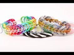 How to Make a Rainbow Loom Triple Link Chain Bracelet - YouTube
