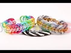 How to Make a Rainbow Loom Triple Link Chain Bracelet - YouTube….love this one.