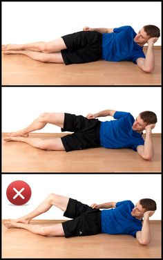 side-lying clams for hip external rotation training