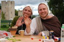 Midieval week in Gotland is a member of Nature's Best. This year over 50 people joined the trash collecting breakfast to ensure that the only things this festival left behind were fond memories. / Foto: Medeltidsveckan på Gotland