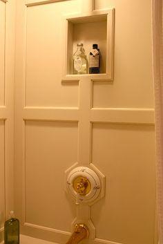 Antiqueaholics: BATHTUB SURROUND PANELED WITH CORIAN