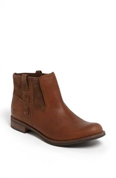 This tobacco boot is perfect for milling the streets of San Francisco or window shopping in Aspen. They come in a wide size for bunion issues. As a triangle, it's best to wear these under a straight leg or boot cut jean that sits at the top of the heel. Timberland Earthkeepers® 'Savin Hill' Bootie | Nordstrom