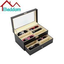 Beddom óculos de Sol Camada Dupla Caixa de 12 Slots de Armazenamento Organizador Caixa De Óculos Óculos Caixa de Gaveta de Coletor, Caixa de Armazenamento de óculos De sol(China (Mainland))