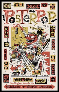 Poster Pop Silkscreen Derek Yaniger Promotional Poster