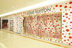 The Japanese pop artist Yayoi Kusama designed windows for Louis Vuitton's 460 stores worldwide.