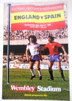 England v Spain FA international Football Programme 25/03/1981 Listing in the Other,International Fixtures,Football (Soccer),Sports Programmes,Sport Memorabilia & Cards Category on eBid United Kingdom