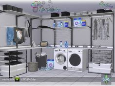 Sims 4 CC's - The Best: The Laundry - Shelving by BuffSumm