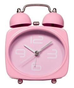 Look at this #zulilyfind! Pink No-Tick Alarm Clock by Streamline #zulilyfinds